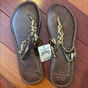 Brand New Abercrombie Fitch Sandals Brown